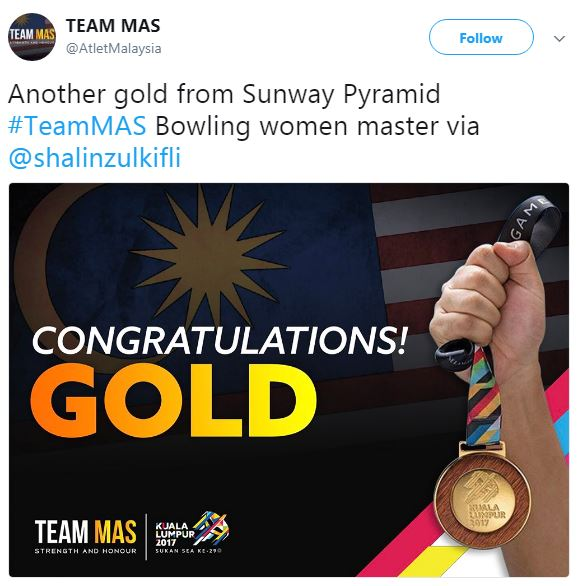 malaysia, indonesia, shalin zulkifli, tannya roumimper, sukan sea ke-29 acara bowling, emas malaysia acara