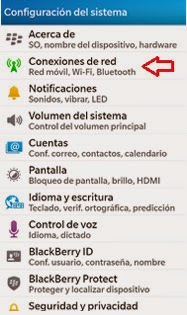 Deshabilitar Bluetooth Blackberry