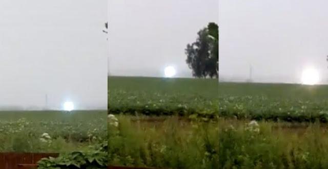 Foto de um raio globular