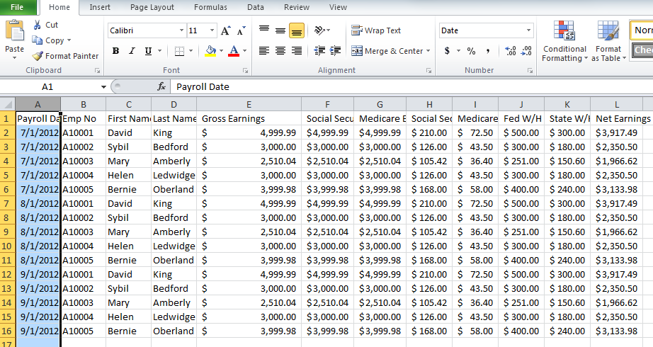 Payroll Template Excel free excel templates for payroll sales – Pay Roll Format