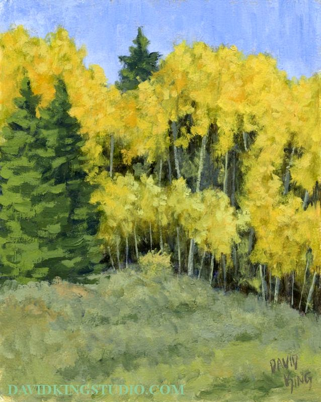 art painting landscape plein air acrylic nature mountain autumn