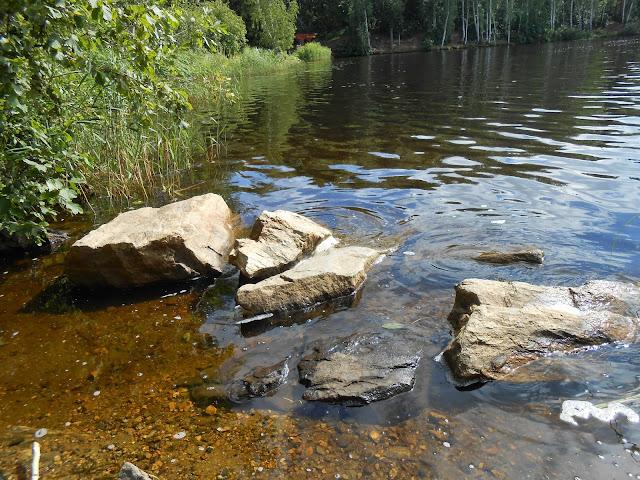 Камни на берегу Деханова пруда