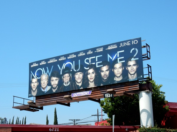 Now You See Me 2 movie billboard