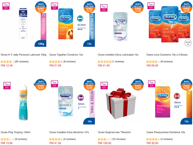 RB Official Store Durex Malaysia Lazada Voucher Code Discount Offer Promo