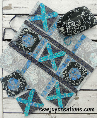 quilted tic tac toe game banyan batiks recess fabric
