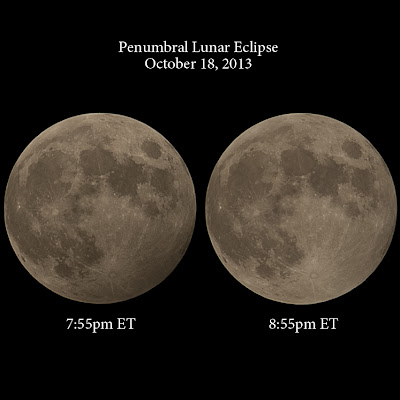 Penumbral Lunar Eclipse, October 18, 2013