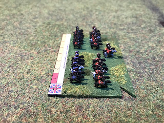 6mm figures of the British heavy cavalry brigade