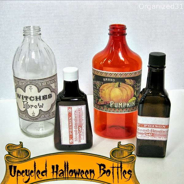http://organized31.com/2013/10/upcycled-bottles-for-halloween-decorations.html