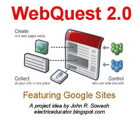 The Electric Educator Webquest 2 0 Using Google Sites
