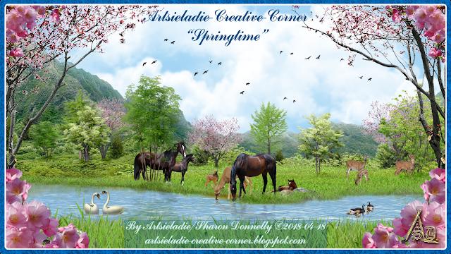 Springtime On Creative Corner art by Artsieladie
