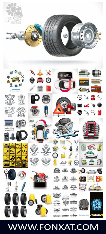 Download images Vector Auto Services and Tools