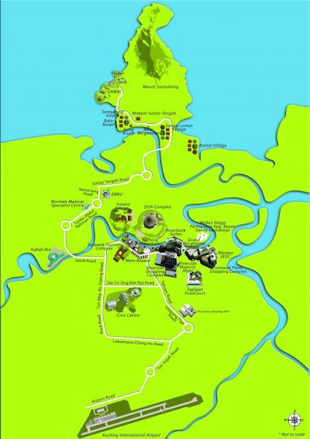 Peta untuk ke Damai Beach Resort dari Airport