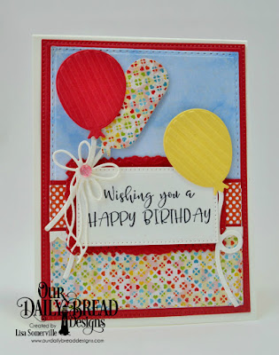 Our Daily Bread Designs Stamp Set: Celebrating You, Paper Collections: Birthday Bash, Birthday Brights , By the Shore, Custom Dies: Pierced Rectangles, Double Stitched Rectangles, Birthday Balloons, Ice Skate, Filigree Frames
