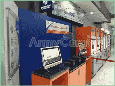 mesin check in counter cetak tiket kereta api di stasiun