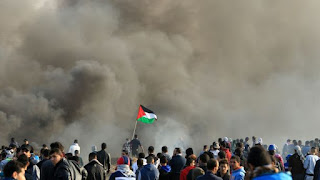 مقتل ستة فلسطينيين واكثر من 1.9 الف جريح منذ اندلاع الاحتجاجات علي قرار الولايات المتحدة القدس عاصمة لاسرائيل