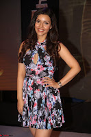 Kyra Dutta in a Deep neck Small Dress at Shamanthakamani pre release function ~  Exclusive 113.JPG