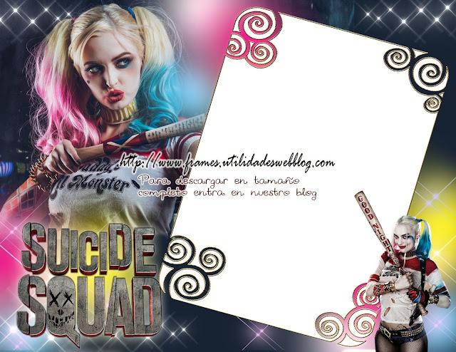 marco para fotos Suicide Squad y Harley Quinn