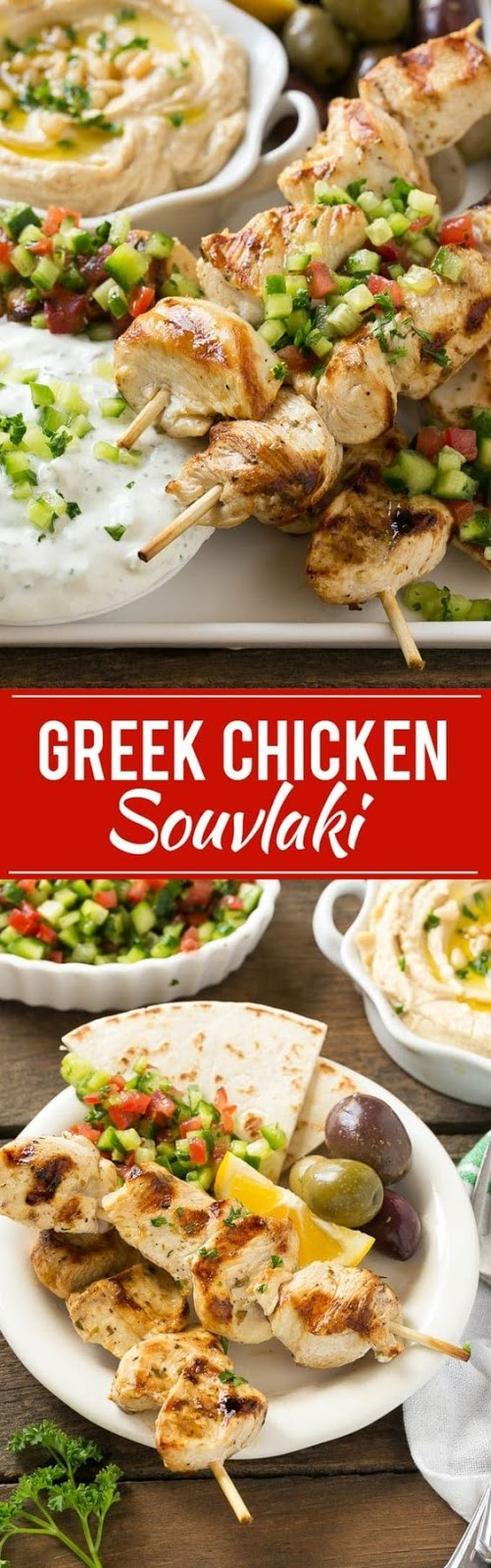 Greek Chicken Souvlaki Recipe