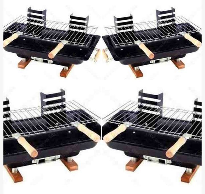 Portable Charcoal Grill for Indoor and Outdoor Barbecuing