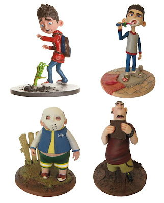 ParaNorman Action Figures by Huckleberry - Norman (With Hand), Norman (With Toothbrush), Neil & Alvin