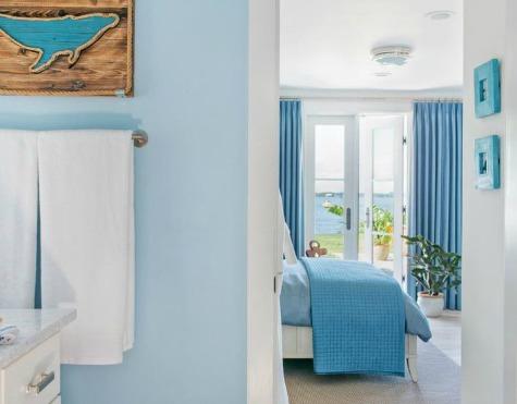 Ocean Blue Bathroom and Bedroom