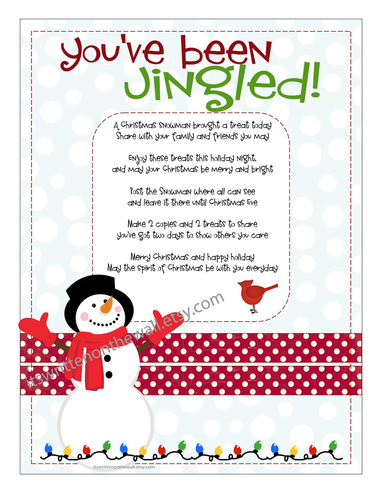 picture relating to You Ve Been Socked Printable referred to as Its Created upon the Wall: Xmas Youve Been Jingled +