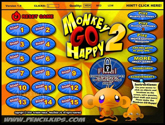 monkey go happy pencilkids