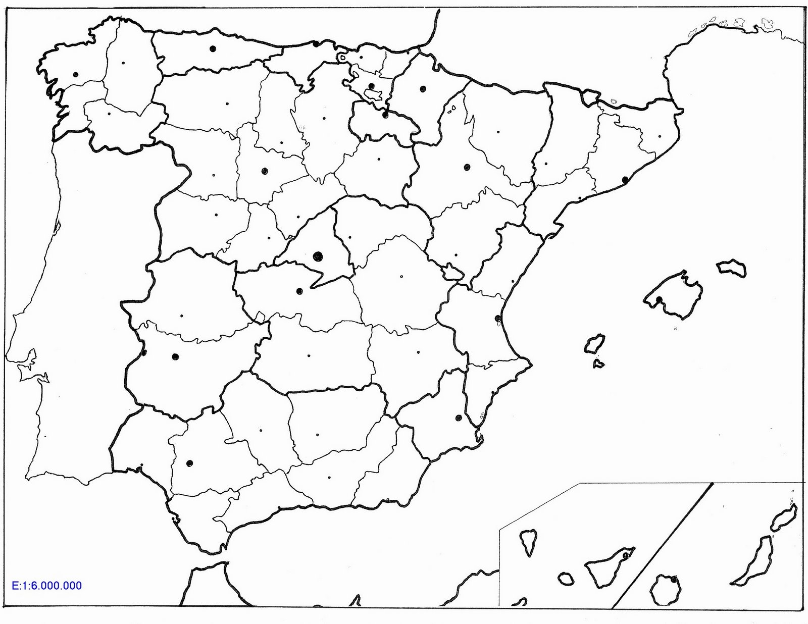 Mapa De España Colorear.Laminas Para Colorear Coloring Pages Mapa De Espana Para