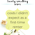 The Twenty-Something Series: Costs I didn't expect as a first-time renter