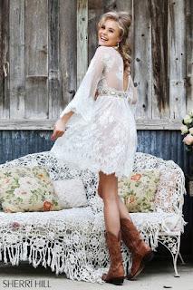 Rochie Sherri Hill 32260 White