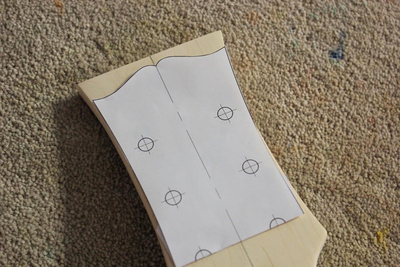 gibson les paul headstock template - guitar kit builder james 39 les paul jnr dc shaping the