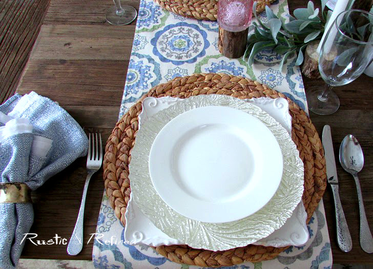 How to set a table or stack dishes fr a beautiful table setting or tablescape