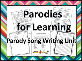 Parody Song Writing Unit by Tracy King