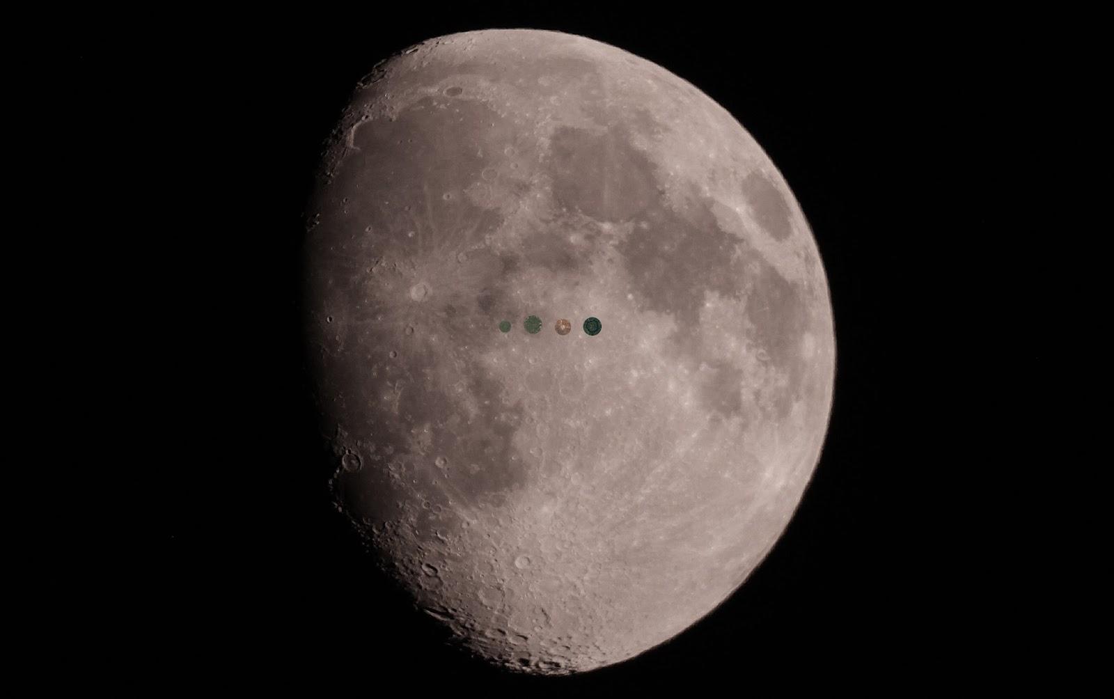 Luna crateres - El cielo de Rasal