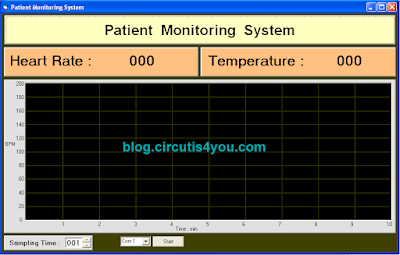 Patient Monitoring System using GSM Module VB Front Screen