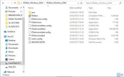 Hasil extract file eFaktur, hasil ekstrak file eFaktur