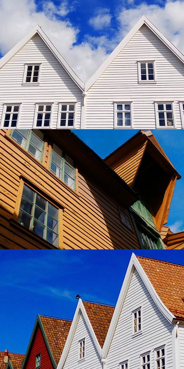 Ciudad hanseática en Bergen con sus edificios construidos integramente con madera.. Foto Rodrigo L.Alonso.