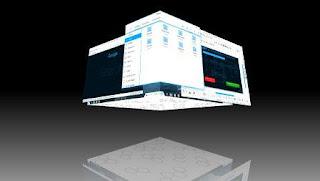 Tampilan Desktop Cube pada Zorin OS