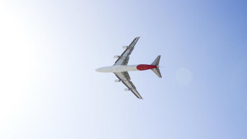 Qantas Airplane above Sydney HD