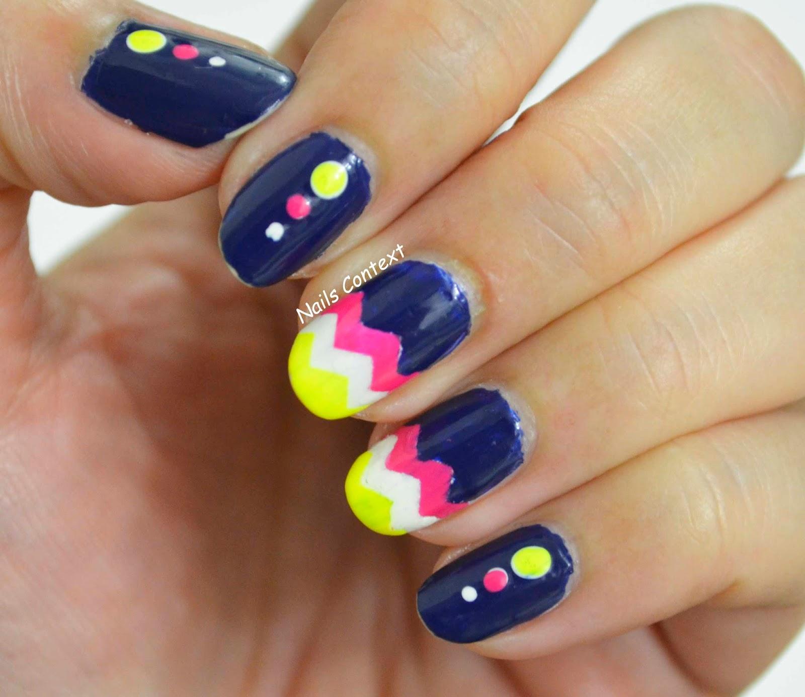 Nails Context: Tutorial : Chevron Colorblock Nails