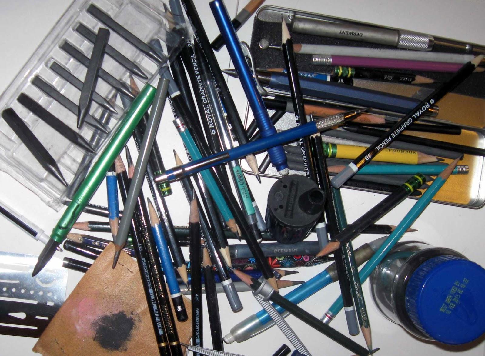 Pencils in pile