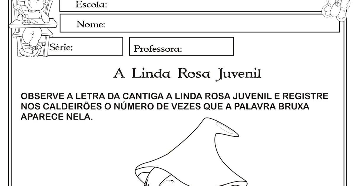 Atividade Matematica A Linda Rosa Juvenil