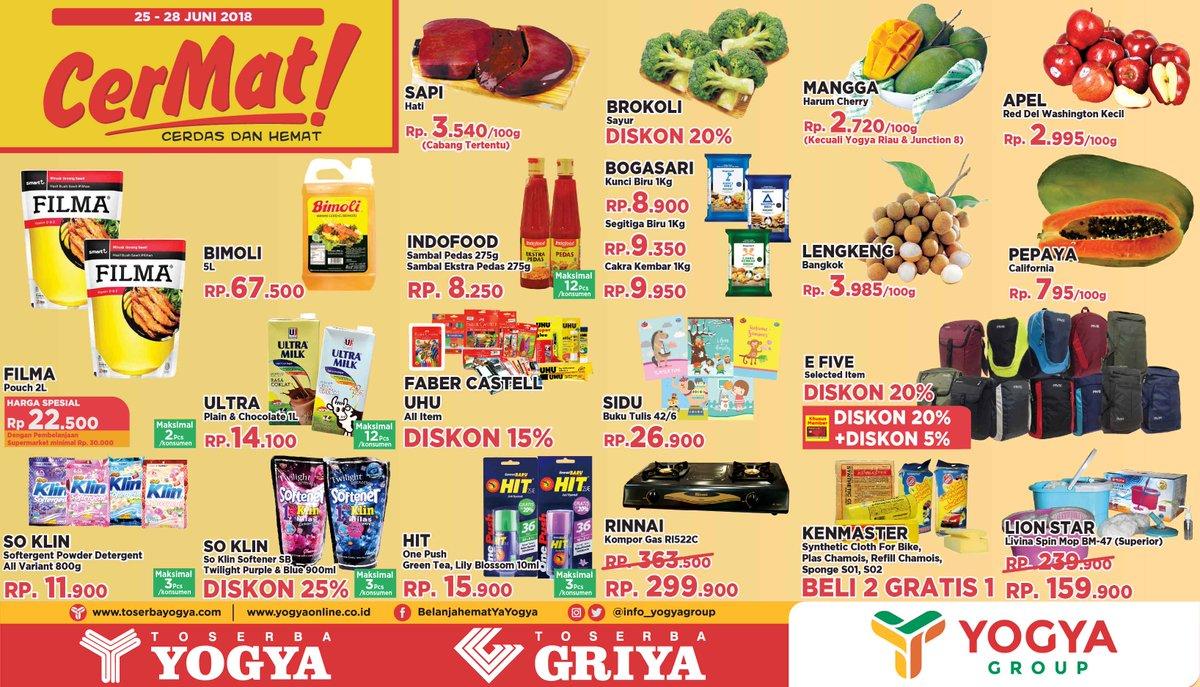 Yogya Group - Katalog Promo Cerdas & Cermat (25 - 28 Juni 2018)