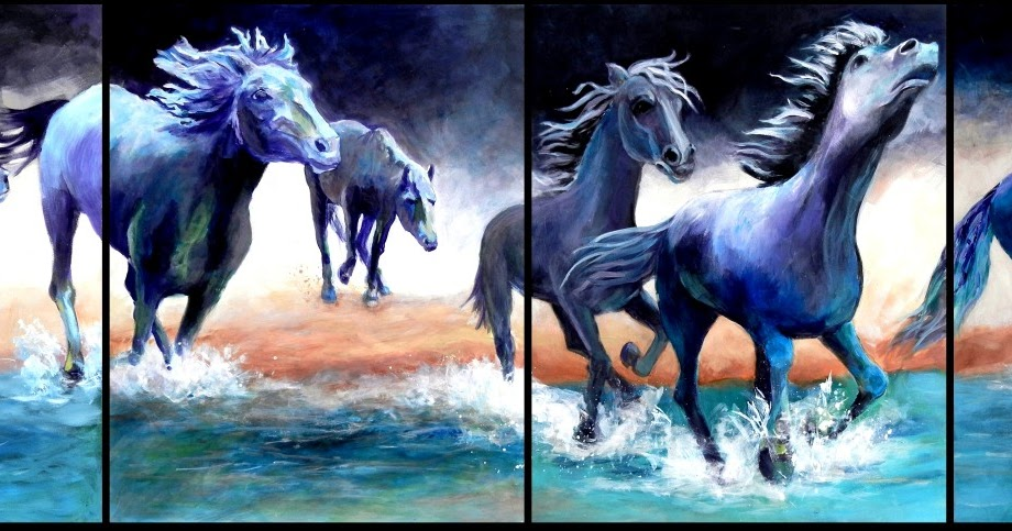 Canvas By Canvas Art Blog Stampede Mustangs