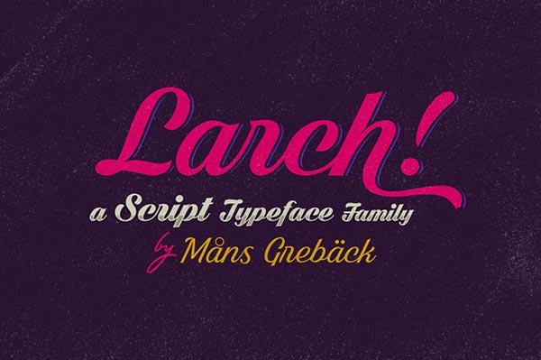 Download Gratis 10 Script Font terbaru 2016 - Shaded Larch Free Script Font