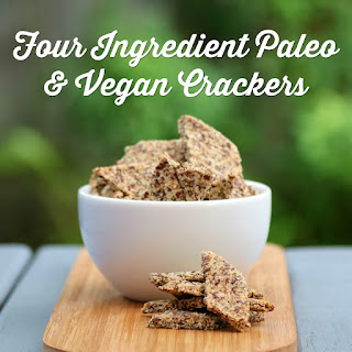 Four Ingredient Paleo Vegan Crackers
