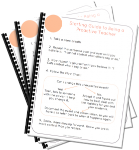 Want a FREE Starting Guide to Being a Proactive Teacher?