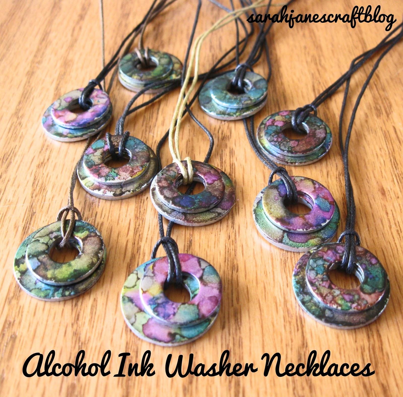 Sarah Jane S Craft Blog Alcohol Ink Washer Necklaces