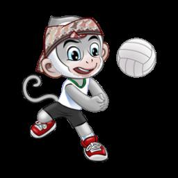 Logo dan Lambang Cabang Olahraga PON Jabar 2016 Bola Voli Indoor