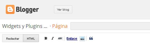 Como insertar el formulario de contactos de blogger en una pagina